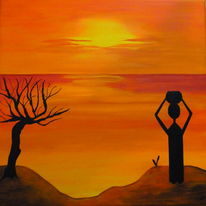 Sonne, Menschen, Landschaft, Baum