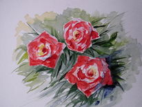 Abstrakt, Rose, Rot, Garten
