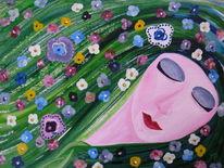 Blumenmädchen, Blumen, Blüte, Fabelwesen