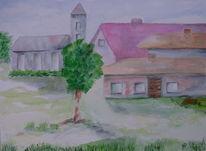 Kirche, Landidylle, Häuser, Idylle