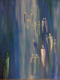 Der weg, Hin zum licht, Acrylmalerei, Licht