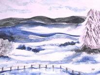 Eis, Schneelandschaft, Baum, Landschaft