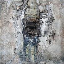 Abstrakt, Marmormehl, Ohne titel, Pigmente