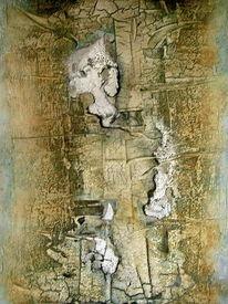 Ohne titel, Wachs, Abstrakt, Ölmalerei