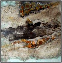 Schellack, Malkarton, Marmormehl, Ölmalerei