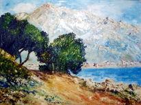 Ölmalerei, Spachteltechnik, Malerei, Blick