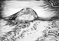 Meer, Welle, Schwarz weiß, Zeichnungen