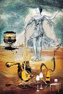 Luftschloss, Wasser, Göttin, Wächter
