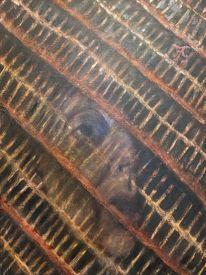 Gräberfeld, Selbstportrait, Brasilien, Malerei