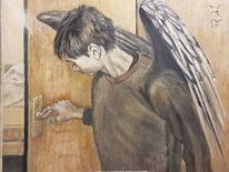 Engel, Licht, Tür, Vogel