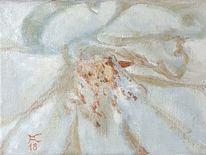 Rose, Weiß, Malerei,