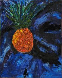 Süden, Genuss, Blau, Ölmalerei