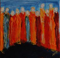 Acrylmalerei, Gemeinschaft, Liebe, Christ