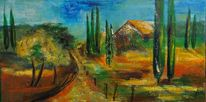 Natur, Plätzchen, Toskana, Abstrakt