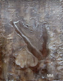 Abstrakt, Holz, Pigmente, Harfe