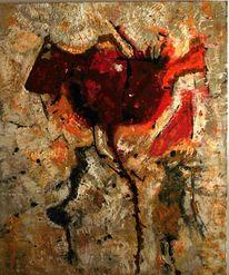 Blumensprache stier, Abstrakt, Acrylmalerei, Tulpen