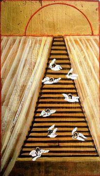 Vorhang, Kreis, Traum, Treppe