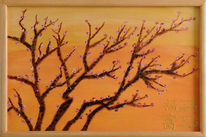 Zweig, Barbaratag, Holz, Acrylmalerei