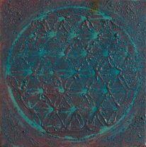 Kreis, Lebensblume, Malerei,