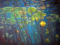 Gegenlicht, Pflanzen, Blau, Wasserpflanzen
