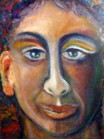 Mann, Nase, Gefühl, Ölmalerei