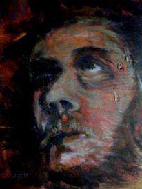 Expressionismus, Mann, Gesicht, Charakterkopf