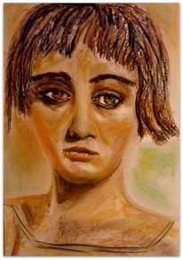 Gefühl, Traurig, Portrait, Frau