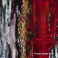 Abstrakt, Malerei, Acrylmalerei, Rot schwarz