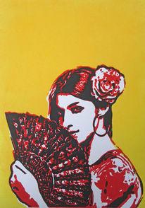 Spanien, Flamenco, Blockprint, Fach