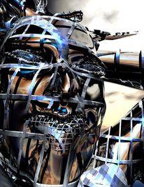 Optik, Cyborg, Menschen, Größenwahn