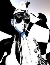 Bizarr, Maskerade, Weg, Digitale kunst
