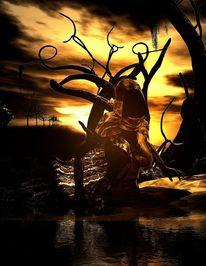 Magie, Dunkel, Denken, Schattenland