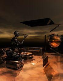 Render, Digital, Fantasie, Sammler moderne kunst