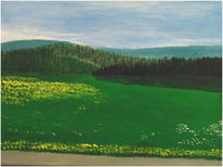 Acrylmalerei, Malerei, Harz, Frühling