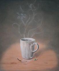 Streichhölzer, Tasse, Grüner tee, Blumen