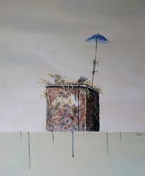 Schirm, Vergänglichkeit, Nest, Hoffnung