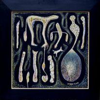 Schwarz, Abstrakt, Der welten arten, Malerei