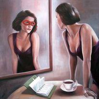 Frau, Gegenstände, Figur, Gefühl