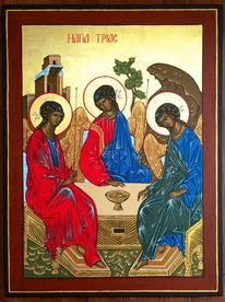 Vergoldung, Temperamalerei, Rublev, Heilige dreifaltigkeit