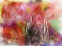 Farbenwelt, Buddha, Digitale kunst