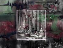 Einsamkeit, Platz, Malerei