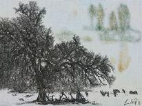 Baum, Treffen, Digitale kunst,
