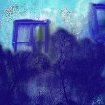 Verträumt, Fenster, Malerei