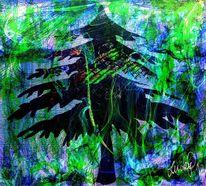 Weihnachtsbaum, Malerei, Digitale malerei