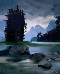 Malerei, Morgengrauen