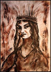 Ölmalerei, Papier portarit, Dreckiger pinsel, Malerei