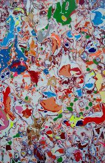 Schmiergeln, Farben, Abstrakt, Schleife