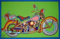 Bike, Motorbike, Katze, Harley davidson