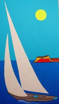 Filfla, Malta, Segel, Malerei