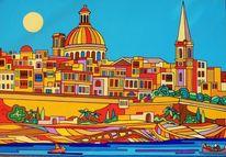 Regatta, Malta, Valletta, Malerei
